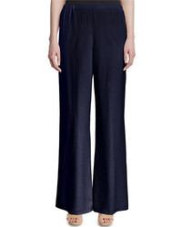 Silk wide leg pants petite medium 651633