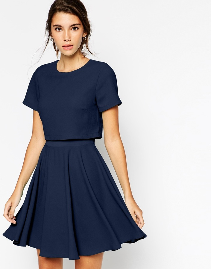 Asos Collection Crepe Crop Skater Dress | Where to buy & how to wear