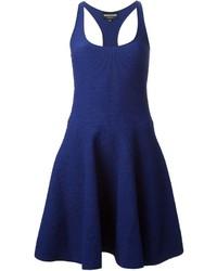 Emporio Armani Textured Flared Dress