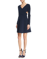 Heritage long sleeve crisscross fit flare dress medium 351892