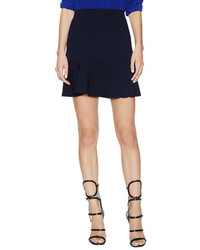 Sandro Juliette Ribbed Skater Skirt