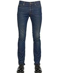18cm Slim Fit Washed Cotton Denim Jeans