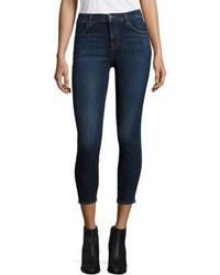 J Brand Alana High Rise Cropped Skinny Jeansmesmeric