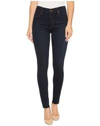 Hudson Barbara High Rise Ankle Super Skinny W Raw Hem In Rover Jeans