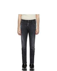 DSQUARED2 Black New Skater Wash Jeans