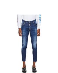 DSQUARED2 Blue Basic Dark Wash Skater Jeans