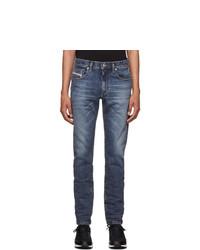 Diesel Blue D Strukt Washed Jeans