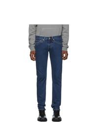 Helmut Lang Blue Masc Lo Drainpipe Jeans
