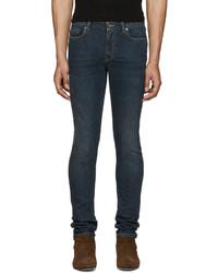 Saint Laurent Blue Original Low Waisted Skinny Jeans
