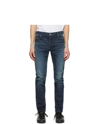 Balmain Blue Tapered Raw Vintage Jeans