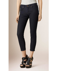 Burberry Skinny Fit Low Rise Cropped Jeans
