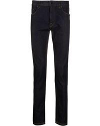 Fendi Camo Detail Slim Denim Jeans