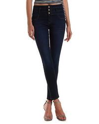 Charlotte Russe Refuge Hi Waist Super Skinny Dark Wash Jeans