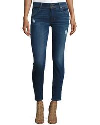 Hudson Collin Flap Pocket Ankle Skinny Jeans Blue