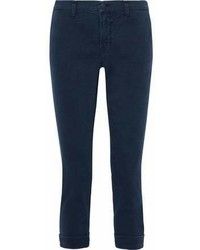 J Brand Cropped Mid Rise Skinny Jeans