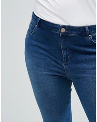 Asos Curve Curve Lisbon Midrise Skinny Jeans In Abbie Wash