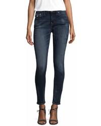 True Religion Curvy Skinny Flap Stud Cotton Jeans