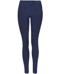 Topshop Dark Blue Denim Leggings