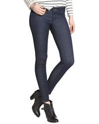 Cult of Individuality Dark Blue Rinse Stretch Denim Teaser Skinny Jeans