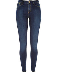 River Island Dark Blue Wash Molly Jeggings