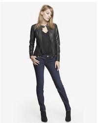 Express Dark Low Rise Skinny Jean