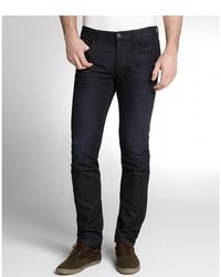 Gucci Dark Navy Button Fly Skinny Straight Leg Jeans