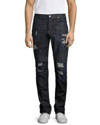 Hudson Destructed Skinny Biker Jeans