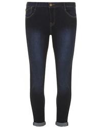 Dorothy Perkins Indigo Harper Skinny Roll Up Jeans