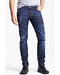 DSQUARED2 Paint Splattered Slim Fit Jeans