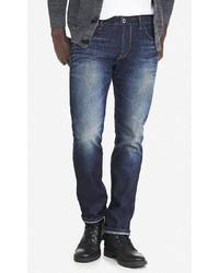 Express Slim Fit Rocco Dark Slim Leg Jean