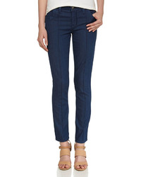 Fade To Blue Pintuck Chambray Jeans Dark Rinse