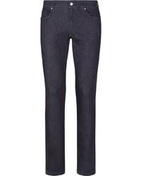 Fendi Faded Ff Motif Jeans