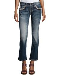 Miss Me Faded Skinny Boot Cut Denim Jeans Medium Wash 427