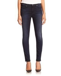 7 For All Mankind Featherweight Mid Rise Ankle Skinny Jeans