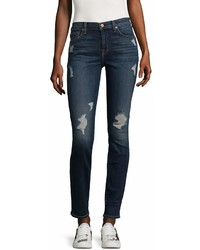 7 For All Mankind Gwenevere Distressed Skinny Jeans