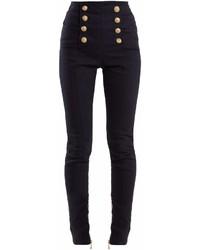 Balmain High Rise Skinny Leg Jeans