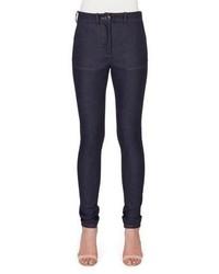 Victoria Beckham High Waist Skinny Leg Denim Jeans Indigo