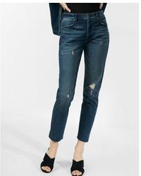 Express High Waisted Original Raw Hem Vintage Skinny Jean