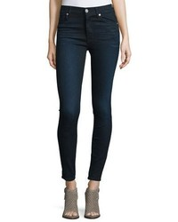 Hudson Barbara High Waist Super Skinny Denim Jeans Night Vision