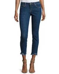 IRO Jarod Cropped Mid Rise Skinny Jeans Blue