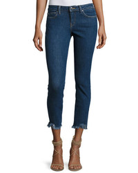 IRO Jarod Cropped Mid Rise Skinny Jeans Blue