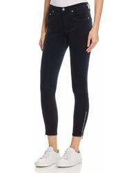 Rag & Bone Jean Ame Velvet Skinny Jeans In Navy