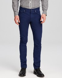 Kent And Curwen Jeans 5 Pocket Slim Fit Trousers In Navy