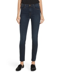 Frame Le High Raw Hem Ankle Skinny Jeans