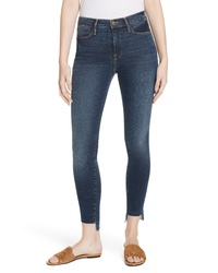 Frame Le High Raw Step Hem Skinny Jeans