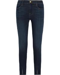 Frame Le High Skinny Jeans Blue