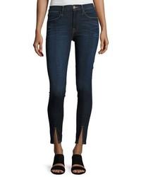 Frame Le High Split Front Skinny Jeans Indigo