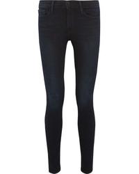 Frame Le Skinny De Jeanne Mid Rise Jeans Dark Denim