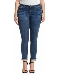 Marina Rinaldi Plus Size Frayed Step Hem Skinny Jeans