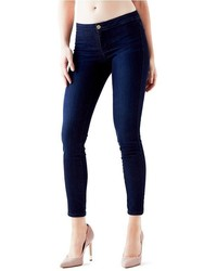 GUESS Mid Rise Push Up Jeggings In Dark Bootstrap Wash